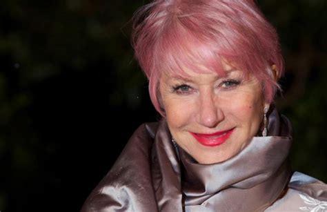 Helen Mirren Debuts Pink Hair Ny Daily News