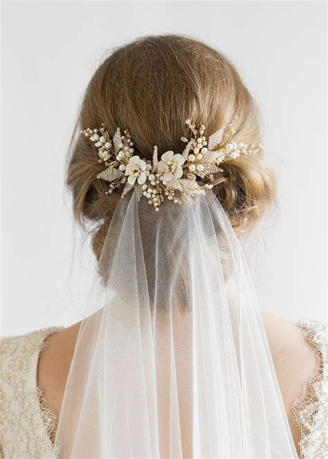 Jasmine Floral Wedding Hair Comb Tania Maras Bespoke