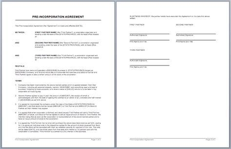 partnership contract template word templates