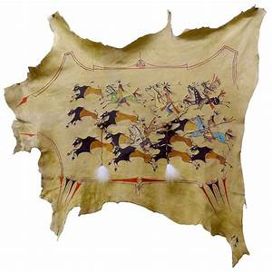 Hide And S : american indian painted deer hide buffalo hunt robe painted hide elk buffalo deer ~ Frokenaadalensverden.com Haus und Dekorationen