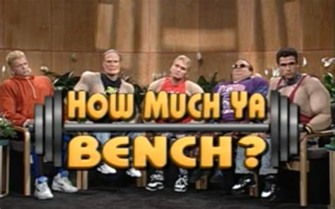 how much you bench how much ya bench from the field to the finish line