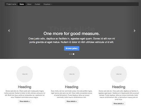 bootstrap carousel template getting started 183 todc bootstrap