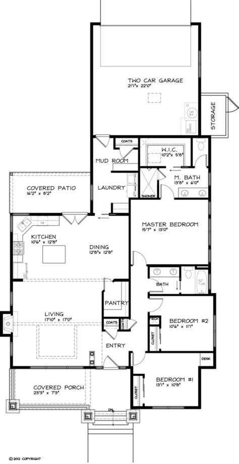 Craftsman Style House Plan 3 Beds 2 Baths 1749 Sq/Ft