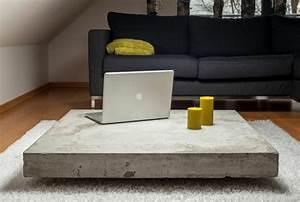 Couchtisch Aus Beton : der beton couchtisch bescheidene eleganz und stilvolles design ~ Indierocktalk.com Haus und Dekorationen