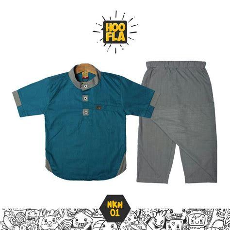 Setelan Koko Biru list harga jual baju koko formal edisi ramadhan dan