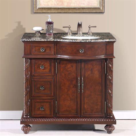 off center sink vanity 36 quot victoria stone top off center single bathroom vanity
