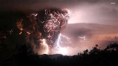 Wallpapers Lightning Nature Volcanic Clouds Dark Cloud