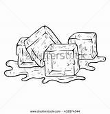 Ice Cubes Coloring Hand Doodle Melted Sketch Cube Drawing Vector Shutterstock Drawings 470px 62kb Water sketch template