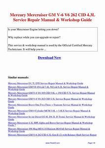 Mercury Mercruiser Gm V