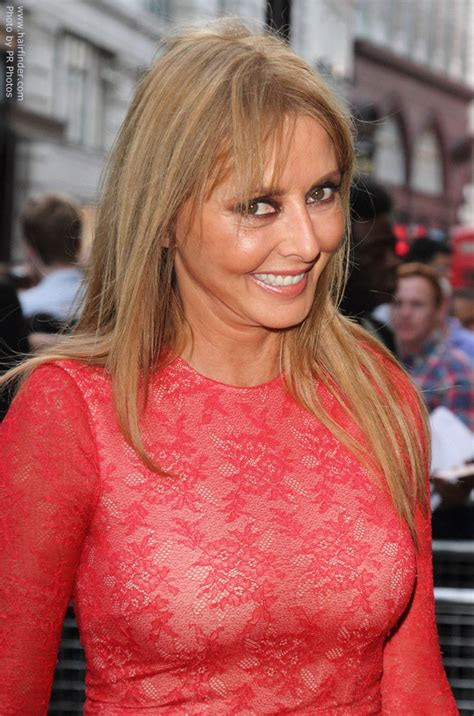 carol vorderman long  youthful  hair