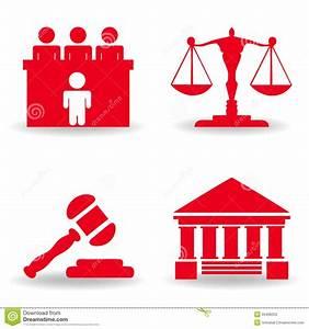 Justice Icon Set Stock Vector - Image: 55466253