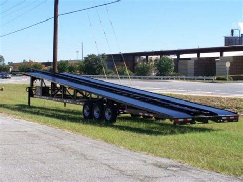 50 ' Wedge Carhauler 3-4 Car Hauler With Trailer Hauling