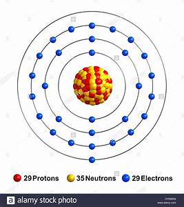 3d Render Of Atom Structure Of Copper Isolated Over White Background Stock Photo  137220153