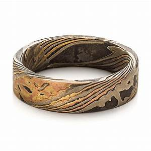 custom men39s mokume wedding band 100583 bellevue seattle With mens unique wedding rings