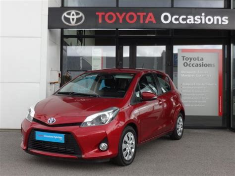 toyota yaris hybride occasion collaborateur voiture occasion toyota yaris 100h dynamic pk zen 5p 2013 hybride 29200 brest finist 232 re