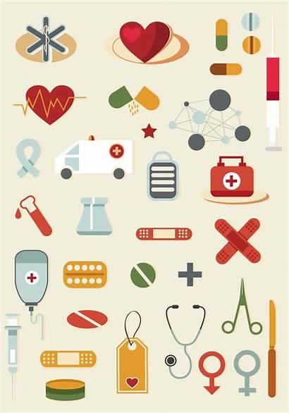 Medical Cartoon Vector Elements Medicine Clipart Cliparts