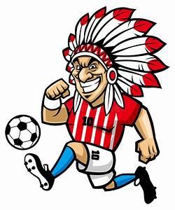 Indian chief soccer mascot stock vector. Illustration of ...