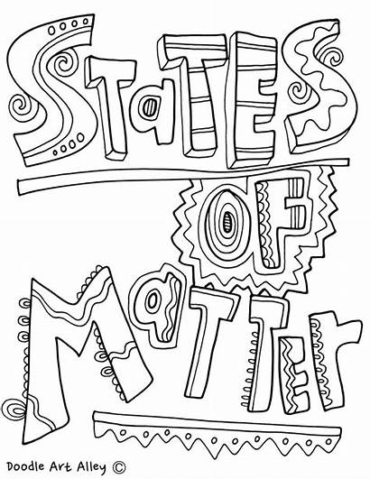 Coloring Matter States Gas Liquid Solid Pages