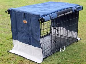 collapsible dog crate blue canvas cover 42quot xlarge ebay With collapsible canvas dog crate