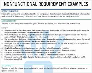 nonfunctional requirement examples requirements quest With non functional requirements template