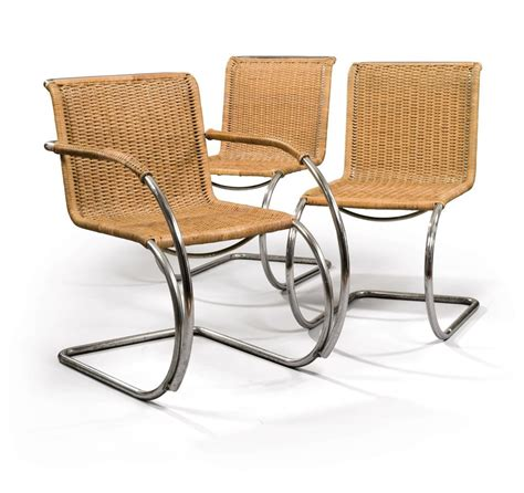 ludwig mies der rohe 1886 1969 paire de chaises mr10 et un fauteuil mr20 les