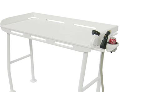fish cleaning table with sink bass pro upgrade your dockside fillet table on the water
