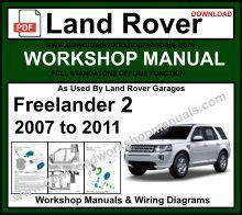 motor repair manual 2008 land rover freelander lane departure warning land rover workshop repair manuals