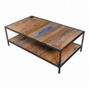 Table Basse Bois Acier : table basse bois m tal rectangulaire achat vente table basse table basse bois m tal rect ~ Teatrodelosmanantiales.com Idées de Décoration