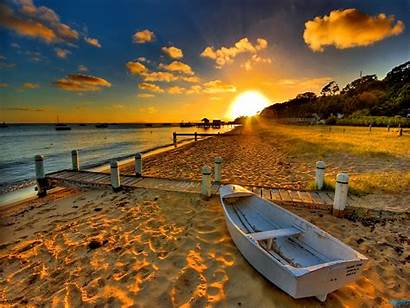 Beach Sunset Wallpapers Nature Scene Awesome