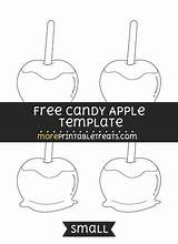 Apple Template Candy Apples Templates Printables Caramel Shapes Letters Moreprintabletreats Sponsored Links sketch template