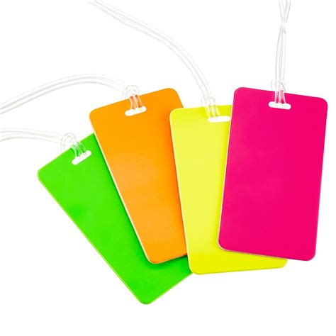 bag tag neon luggage tag the container store