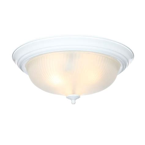 hton bay ceiling fan glass dome hton bay 2 light textured white flushmount wb0372 the