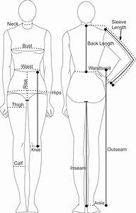 Printable Body Measurement Chart - Female