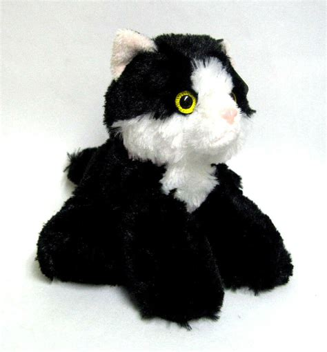 aurora mini flopsie maynard black  white cat  stuffed