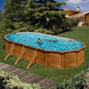 Piscine Acier Imitation Bois : gre piscine pacific ovale 730 x 575 cm h 120 imitation ~ Dailycaller-alerts.com Idées de Décoration