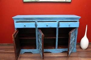 Möbel Aus Indien : schrank kolonialstil sideboard kommode antik holz indien blau ~ Sanjose-hotels-ca.com Haus und Dekorationen