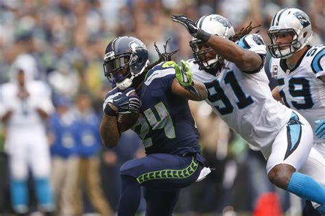 seahawks  panthers  play   game