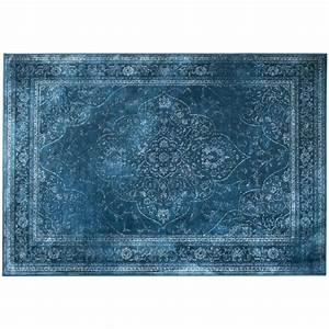 tapis iranien rugged bleu style persan par drawer With tapis oriental bleu