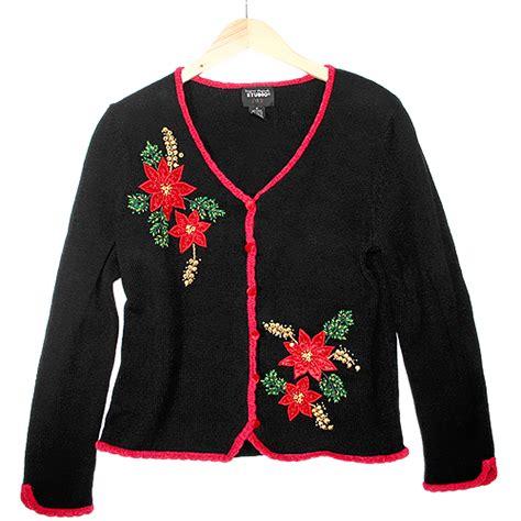tacky sweater beady poinsettia tacky sweater the