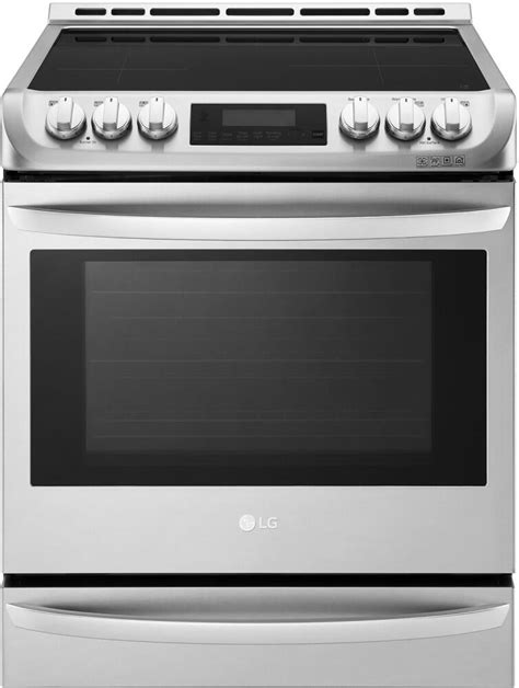 range lg inch oven electric ranges cooktop freestanding appliances stainless steel ovens cu ft connection smart smoothtop