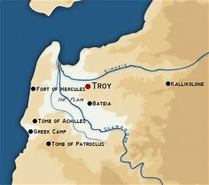 Map showing the Location of Troy | The Trojan War ...