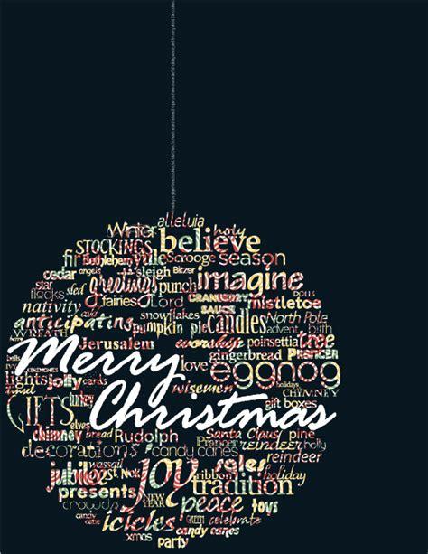 typographic christmas ornament by reinix on deviantart