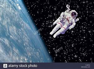 NASA image astronaut earth floating space stars Stock ...