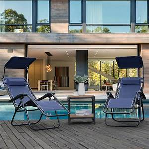 Urhomepro, Folding, Outdoor, Lounge, Chair, Adjustable, Zero, Gravity, Chair, W, Canopy, Shade, Headrest