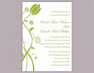 Diy wedding invitation template editable word file instant for Diy wedding invitations in word