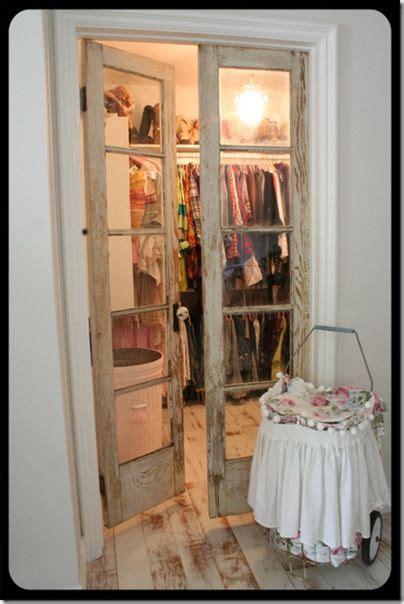repurposed doors   closet doors perfect   smaller walk  closet    room