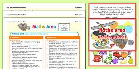 Maths Area Continuous Provision Poster And Challenge Cards Pack
