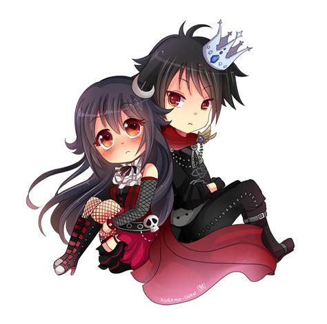 anime couple cute chibi chibi couple commission for xxnemi chanxx by kurama