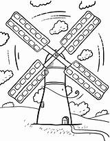 Windmill Coloring Printable Wind Windmills Turbine Coloringcafe Colouring Pdf Sheet Adult Holland Colour Energy Drawing Paper Drawings Button Standard Prints sketch template