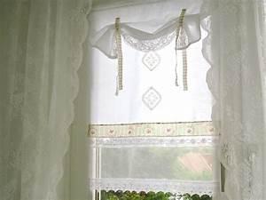 Shabby Chic Gardinen : shabby chic landhausstil gardine vintage wei 240 von bluebasar auf ~ Eleganceandgraceweddings.com Haus und Dekorationen